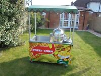 SWEET CORN TROLLEY CART CATERING STAND STALL WITH SWEETCORN STEAMER MACHINE KIOSK