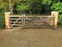 2 Wooden Driveway / Field/ Yard Gates