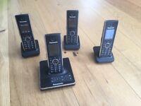 High quality digital cordless FOUR-phone system with answering machine - Panasonic KX-TG8564