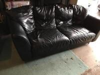 Leather sofa - littleover