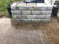 Rough edged blocks