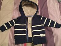 Joules 3-6m fleece lined jacket