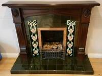 Fireplace Mantel, Surround and Hearth.