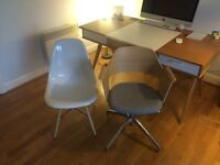 Sexy IKEA Chair, RRP £150, built and ready to collect, hardly used (on the right in photo)