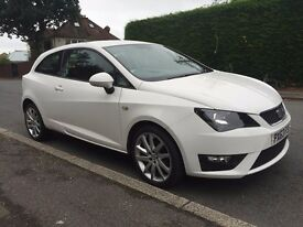 2013 SEAT IBIZA FR TSI 1.2 / WHITE SPORT CAT D 44,000 MILES ONLY / EXCELLENT CONDITION