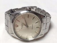 Large Vintage 50's Rolex Oyster Precision mens swiss watch with riveted bracelet REDUCED