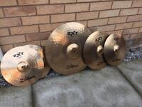 "Zildjian ZXT full cymbal set 20"" ride 16""+14"" crash 14""hi-hats (price drop)"