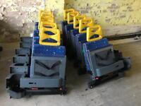 16 BLUE FOLDING MINIBUS SEATS £10 EACH