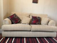 Very comfortable 2/3 seater Beige sofa