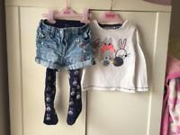 Next Bunny outfit Top shorts & tights. 12-18m