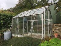 Aluminium greenhouse.