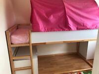 Ikea Kura bed with canopy.