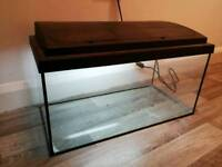 2ft fish tank & bulb (repair or spare, read desc)