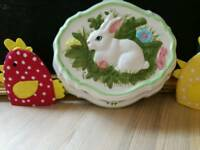 Vintage ceramic Easter Bunny Jelly mould