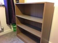 3-shelf oak effect bookcase