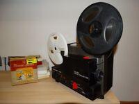 Vintage Hanimex SR8600 8mm Sound Projector w/ Screen