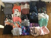 LARGE BUNDLE IF GIRLS CLOTHES RIVER ISLAND & NEXT. 28 ITEMS. 7 YEARS. 122cm