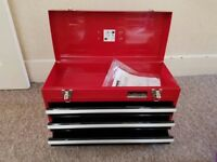 Portable Toolbox Tool Chest Box Cabinet Garage Steel 3 drawers