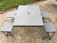 Fold up camping picnic table