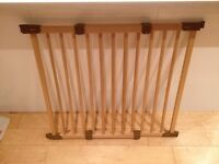 IKEA wooden extendable stair gate