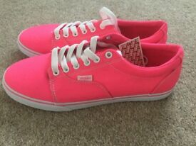 Vans Pink Trainers, Brand New, With Tags