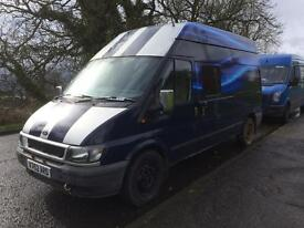 Ford transit kited out as a motorhome