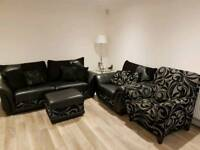 DFS Sofa, 2 chairs and footstool