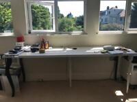 Long desk/slim fashionable dinner table