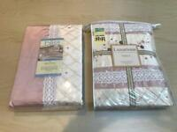 Matching bedding and curtain set