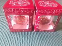 LIVERPOOL FC CHRISTMAS BAUBLES X 2 NEW