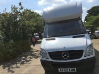 mercedes sprinter luton box van with tail lift.2012.LWB.excellent runner