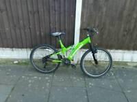 Kawasaki mountain bike, 24 inch wheels, new parts fitted, good working order
