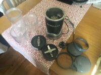 Gently used Nutribullet with various accessories