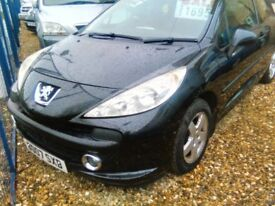 2007 Peugeot 207 1.4 petrol 3 door hatch back ideal first car the car is sold with a full year mot
