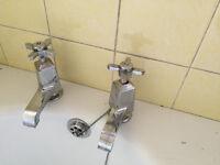 Art Deco bath & basin taps