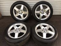 Polished Mercedes ML Class M Alloys Excellent brand name tyres