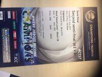 2x ICC Cricket World Cup Second Semifinal Ticket GOLD (A2 v B1)- Edgbaston