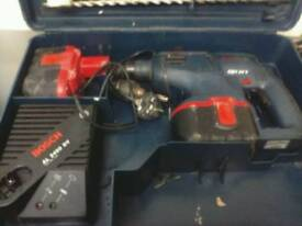 BOSCH GBH24v SDS HEAVY DUTY ROTARY HAMNER DRILL/BATTERY/CHARGER/CASE