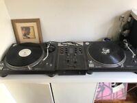 X2 Technics 1210MK5 + Mixer + Speakers