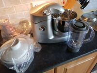 Kenwood Kenmix 650 - attachments and manual inc. Some parts never out of packaging.