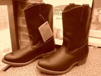 Redwing Pecos Boots, boxed tagged and brand new, made in USA.