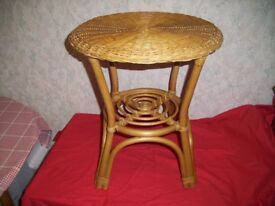 Bamboo / Wicker Side Table 52 cm high