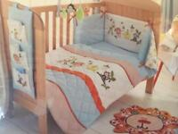 2 x Toddler bed set - coverlet and bumper