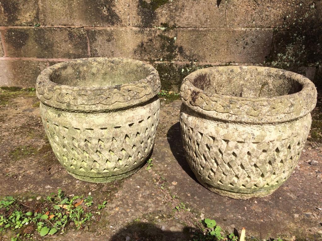 Stone Victorian pots