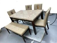 Marble dining / kitchen table