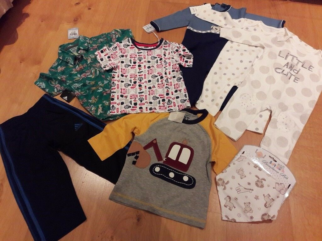 With labels Clothes bundle 6 months to 2 years