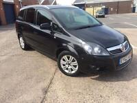 Vauxhall Zafira 1.7 TD ecoFLEX 16v Exclusive 2012 62 PLATE 5dr, FULL SERVICE HISTORY,