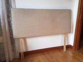 Beige Double Bed Headboard