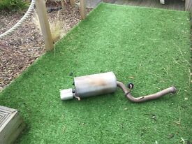 subaru impreza exhaust back box only on car a month