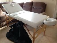 Portable Folding Massage Table and Reflecology Footstool